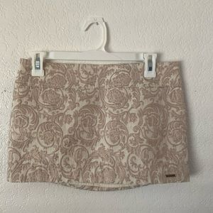 Abercrombie Fitch Metallic Gold Brocade Mini Skirt